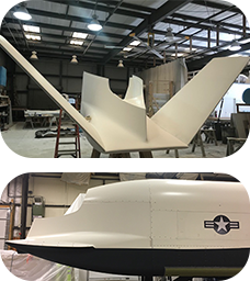 fiberglass tooling and components for Lockheed Martin and U.S. Navy